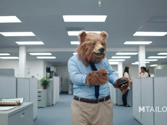MTailor Film Ad - Business Bear