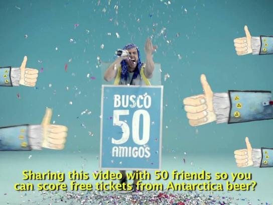 Antarctica Beer Digital Ad -  The beer metro card
