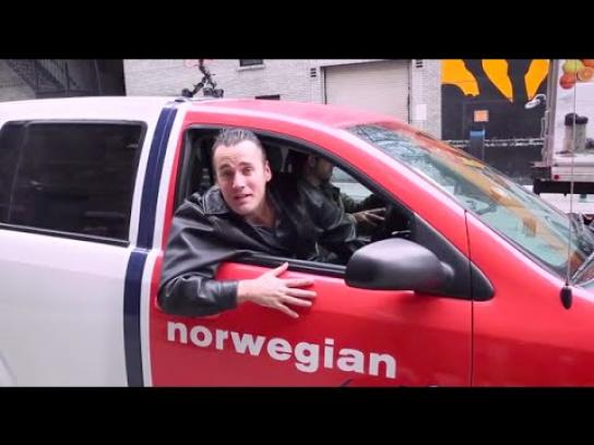 Norwegian Ambient Ad -  Norwegian Red Cab