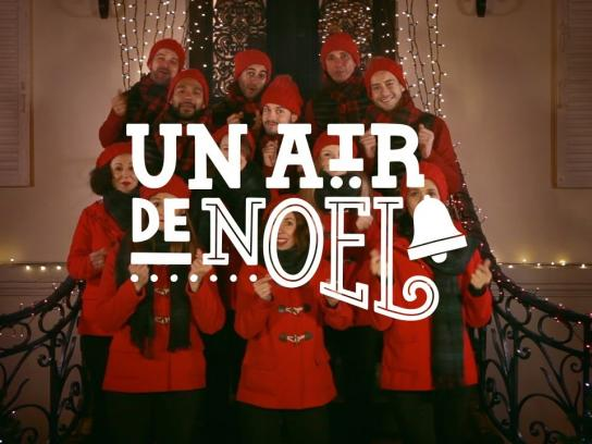 Netflix Ambient Ad -  First Christmas in France