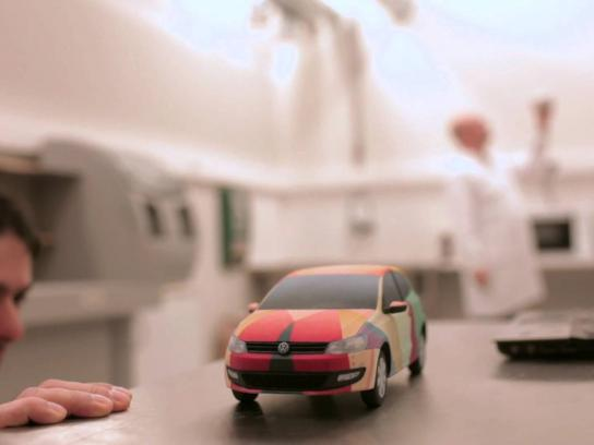 Volkswagen Ambient Ad -  The Polo Principle