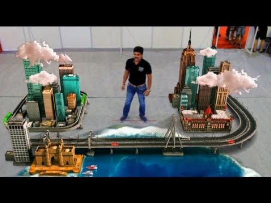MCHI Property Show Ambient Ad -  Mumbai Makes Me Happy