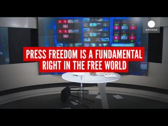 Reporters Without Borders Film Ad - The missing anchorwoman