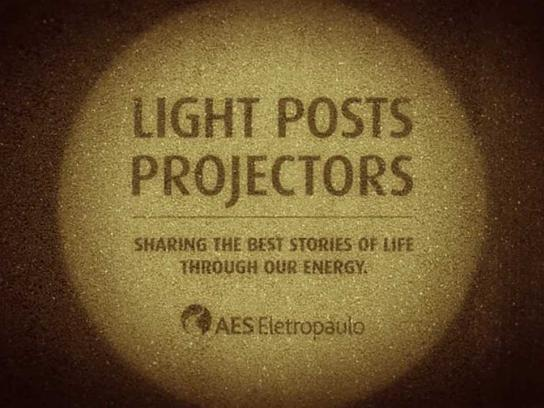 AES Eletropaulo Outdoor Ad -  Light Posts Projectors