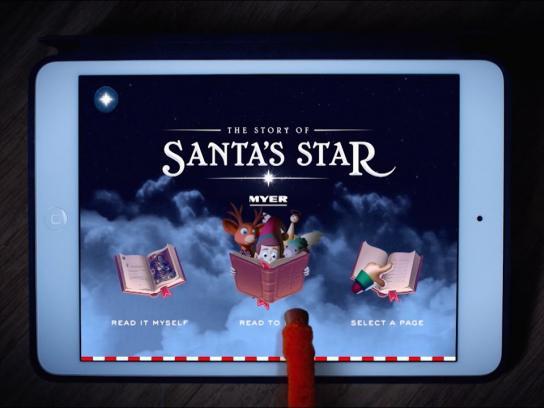 Myer Digital Ad - The story of Santa's star