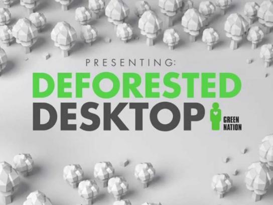 Green Nation Digital Ad -  Deforested Desktop