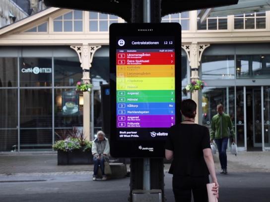 Västtrafik Ambient Ad - Proud Timetables