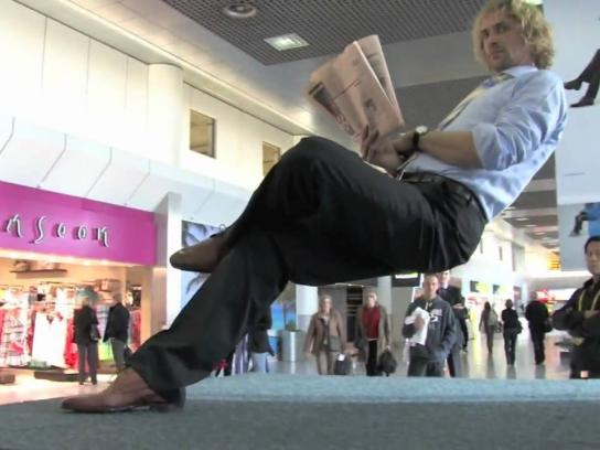 KLM Ambient Ad -  Invisible chair