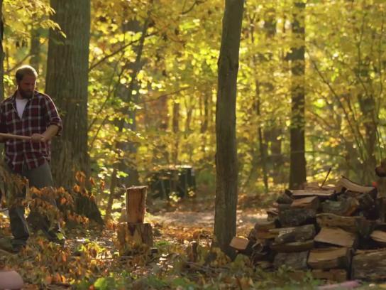 Lifespan Film Ad - Chopping wood