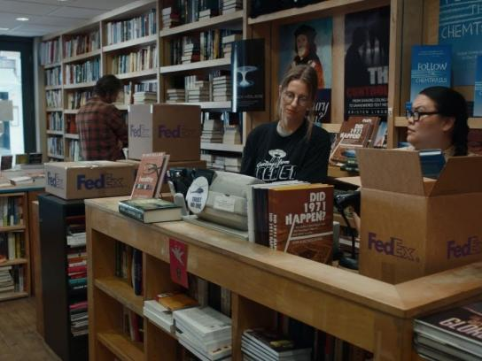 FedEx Film Ad - Conspiracy Bookstore