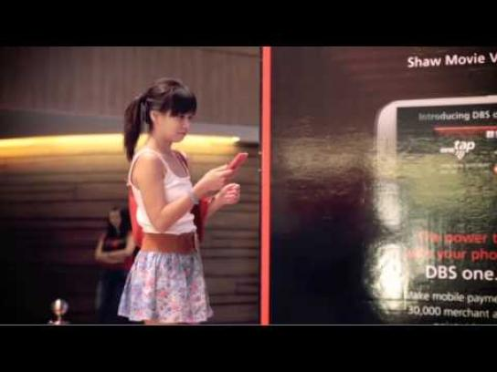 DBS Bank Ambient Ad -  Singaporeans Turn Into Superstars With One Tap