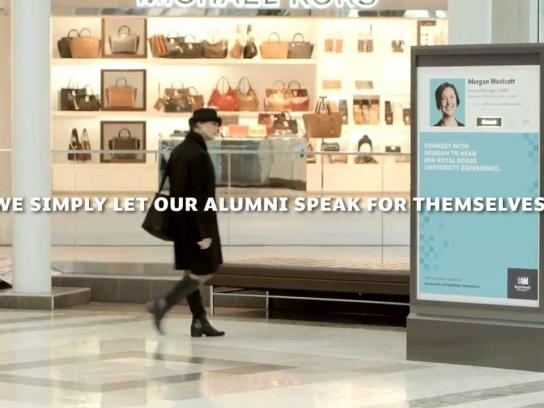 Royal Roads University Ambient Ad -  First hand