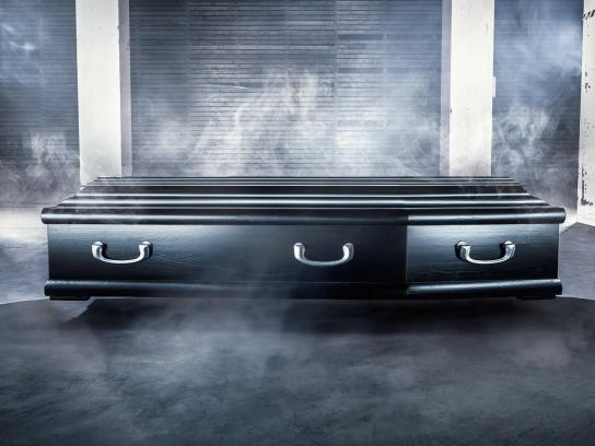 Coolstuff.com Digital Ad -  Halloween coffin delivery