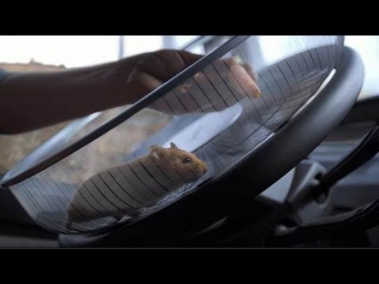 Volvo Digital Ad -  The Hamster Stunt