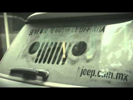 Jeep Ambient Ad -  Wash Stencil