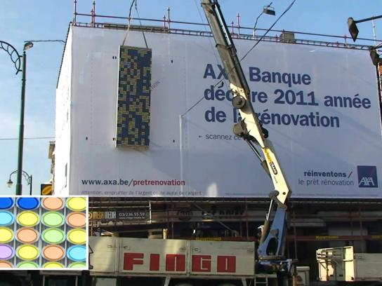 AXA Outdoor Ad -  Giant QR Code