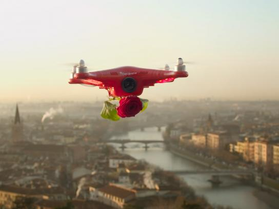 Flower Council of Holland Ambient Ad -  Cupidrone