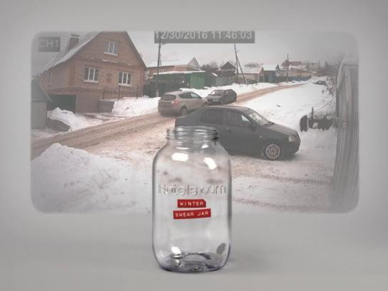 Hotels.com Film Ad - Winter Swear Jar