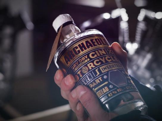 Ehinger Kraftrad Film Ad - The Archaeologist - First Gin including Harley Davidson's true spirit