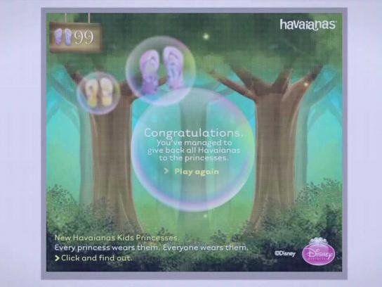 Havaianas Digital Ad -  Kids Princesses