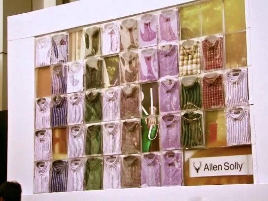 Allen Solly Ambient Ad -  First ever Tweeple-Powered collection launch