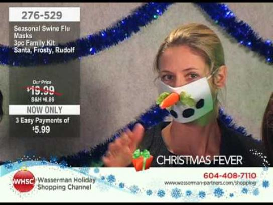 Wasserman Digital Ad -  The Wasserman Holiday Shopping Channel, Seasonal swine flu masks