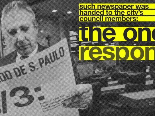 O Estado de S. Paulo Experiential Ad -  Project 16%