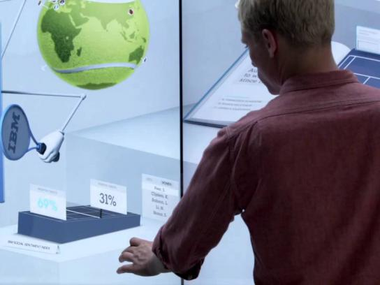 IBM Ambient Ad -  Game Changer Interactive Wall