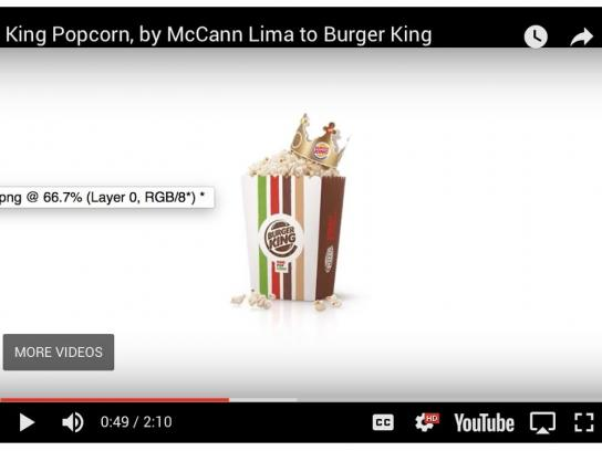 Burger King Direct Ad - King Popcorn