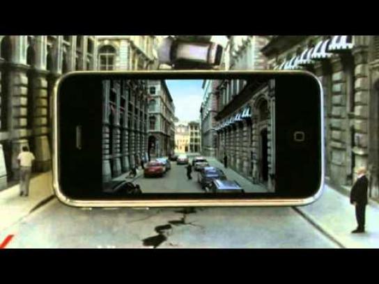 AXA Ambient Ad -  iPhone print ad