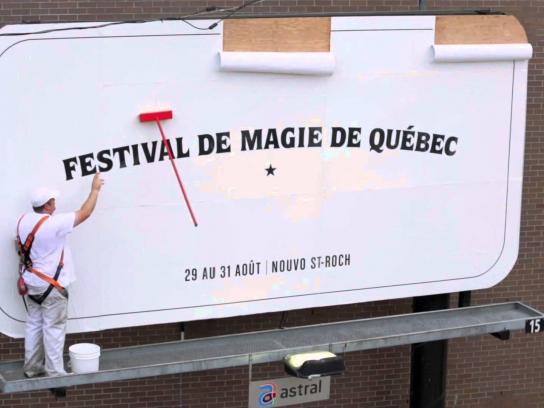 Quebec city magic festival Outdoor Ad -  Magic mop