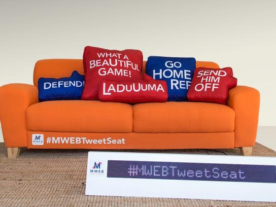 MWEB Ambient Ad -  The MWEB #TweetSeat