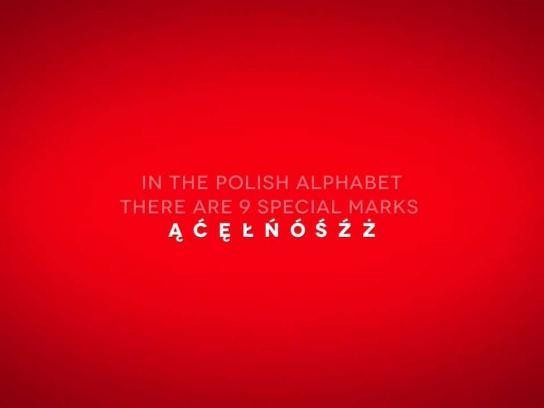 Polish Academy of Science Digital Ad -  Polish Diacritics Campaign
