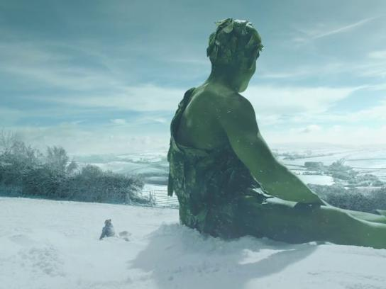 Green Giant Film Ad - Snow Angel