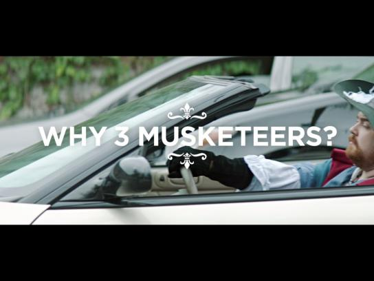 Three Musketeers Film Ad -  Carpool