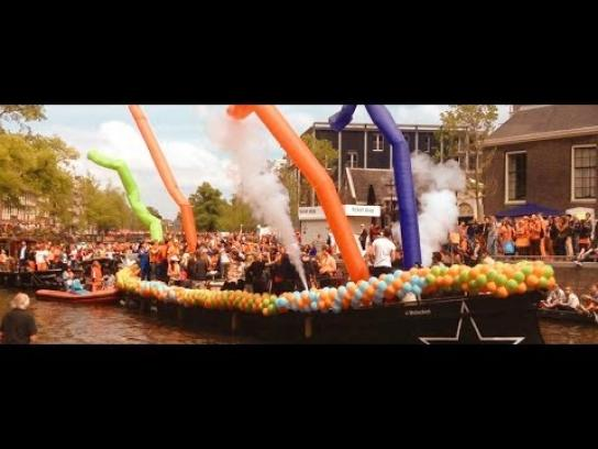 KLM Ambient Ad -  The Orange Experience