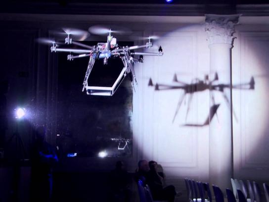 Samsung Ambient Ad -  Flying Book