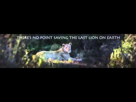 Born Free Foundation Outdoor Ad -  Lion