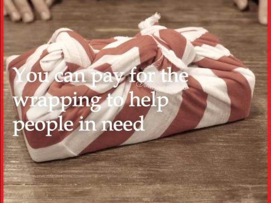 Salvation Army Experiential Ad - Wrapping paper