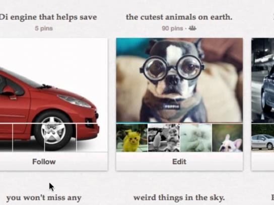 Peugeot Digital Ad -  Pinterest Car Showcase