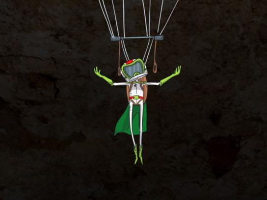 Mountain Dew Digital Ad -  Base jump