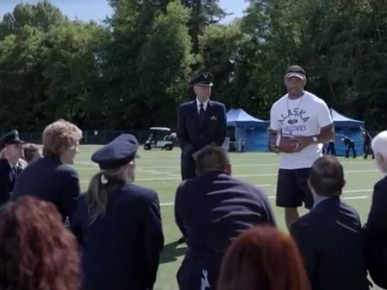 Alaska Airlines Film Ad -  Wisdom Wars with Russell Wilson