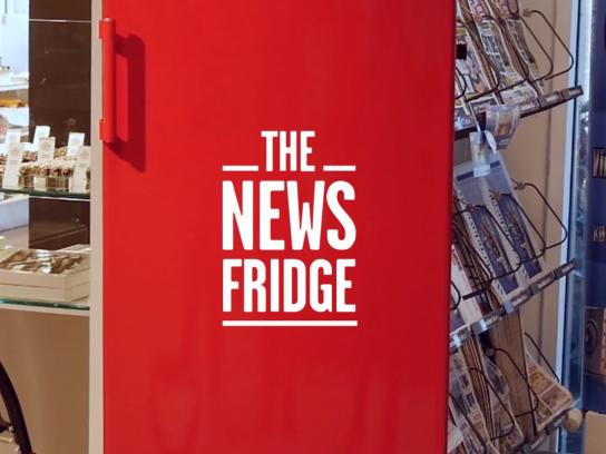 Ekstra Bladet Outdoor Ad - The news fridge