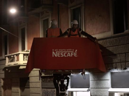Nescafe Ambient Ad -  The Nextdoor Hello