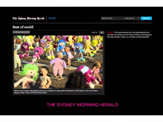 The Israel Association For Child Protection Ambient Ad -  The abused dolls