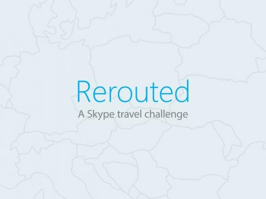 Skype Ambient Ad -  Rerouted - A Skype Travel Challenge