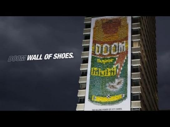 Doom Outdoor Ad -  Wall of shoes