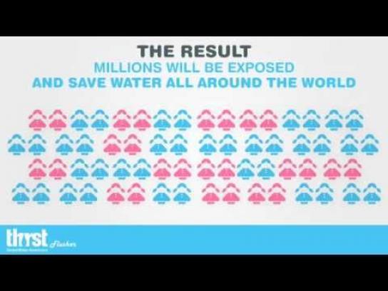 Thirst Global Awareness Digital Ad -  Thirst-flusher app
