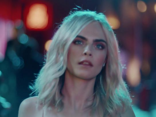 Jimmy Choo Film Ad - Shimmer in the Dark, Featuring Cara Delevingne