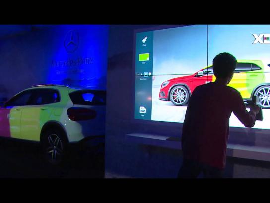 Mercedes Ambient Ad -  Virtual Graffiti with Real Time Projection